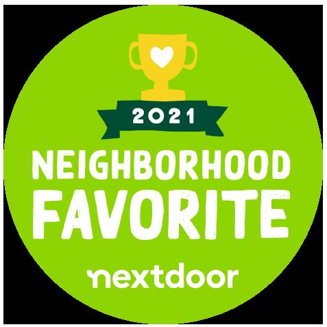 We were voted the best in the neighborhood by Nextdoor customers.